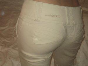 Guess Jeans Hose weiß/beige, Gr. 27