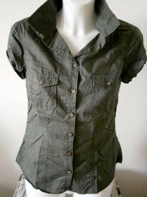 H&M L.O.G.G. Hemdbluse Khaki mit verstellbaren Ärmeln ungetragen wie NEU