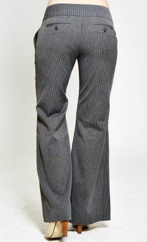 H&M Stoffhose, Nadelstreifen Grau, Größe 36