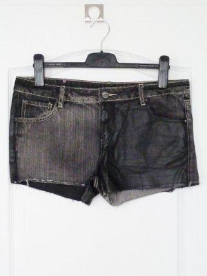 Jeans Leder Shorts Bikerlook L