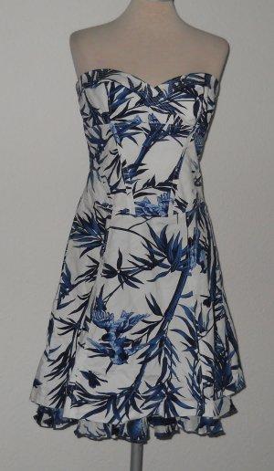 Karen Millen Kleid Rockabilly Gr. 40 M L UK 12 Tellerrock Rückenschnürung