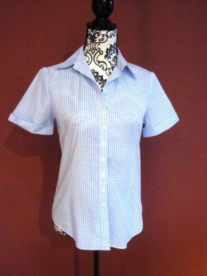 Kurzärmelige blau-weiß karierte Bluse von Lawrence Grey Gr. 38
