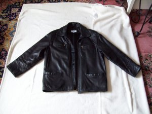 Lederjacke schwarz Gr. 38 bzw. M