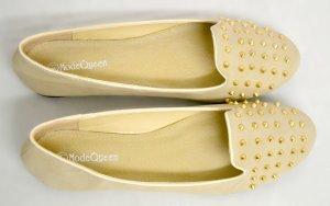 Loafer Nieten Ballerina Neu Slipper 41 beige