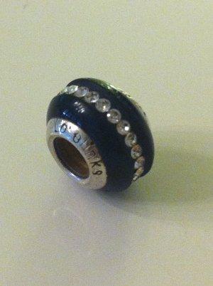 LOVELINKS Bead Charm 925 Silber SPARKLING ONYX MURANOGLAS SCHWARZ komp. Pandora