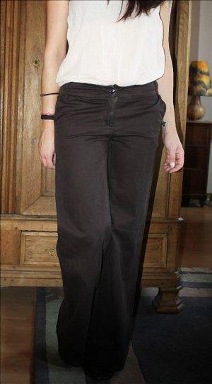 LUXUS Imperial Hose S 36 Jeans Stoffhose Marlene Dietrich Anzughose braun