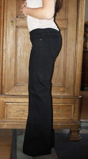Mango Jeans für große Frauen Gr. 34 XS gerade geschnitten schwarz Anzughose Hose