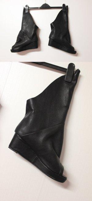 Neu Boots Herbst Wedges Stiefel Trend Biker Blogger Lookbook Größe 40