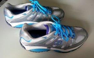 Neue Skechers Shape-Ups (Size 39) in grau/türkis- nur draußen Probe getragen