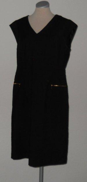 Next kurzarm Etuikleid Kleid schwarz retro Gr. UK 18 46 XL büro