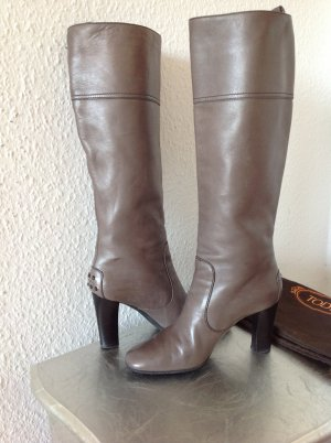 Original Tod´s Tods Stiefel mit Absatz grau Gr.36 NP590€ Hogan wNEU Leder Boots