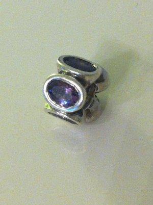 PANDORA Original Bead Charm 925 Ale LILA ZIRKONIA OVALE LICHTER 790311ACZ