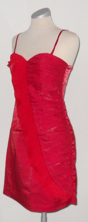 Party Abendkleid Minikleid Tubekleid trägerlos + Träger rot Gr. 38