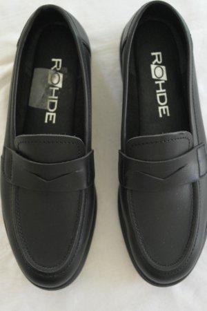ROHDE Schuhe Halbschuhe Slipper Gr. 38 schwarz NEU Classic superbequem