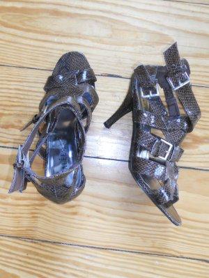 Sandaletten in Schlangenleder-Optik von AZALÈE