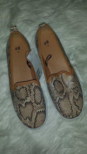 Schlangen loafers h&m braun blogger neu 39