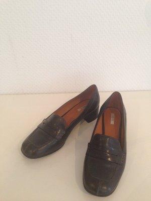 Schöne Geox Echtleder Loafer schwarz 38