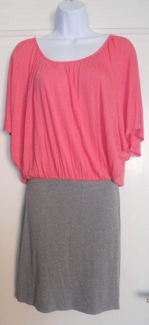 Shirtkleid in Pink und Grau