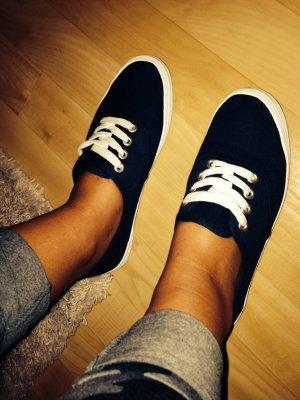 Sneaker Low rot blau