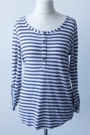 Splendid Longsleeve Shirt Gr. L blau weiß gestreift - Knopfleiste #MF/B/11-55#