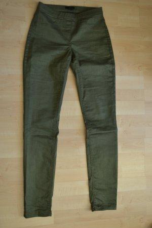 Stretch Jeggings (Röhre) mit Taschen hinten in Khaki