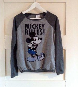 süßer Disney Micky Mouse Pulli mit Pailetten in S