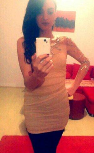 Topshop woman gold dress, size XS
