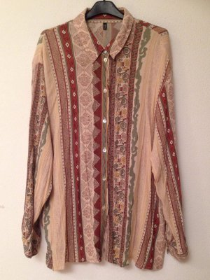Vintage Bluse mit Aztekenmuster