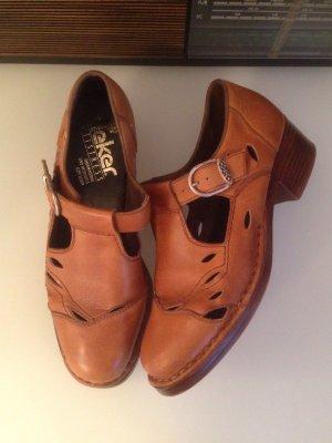 Vintage Leder Cut Out Shoes von Rieker