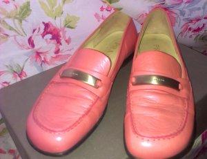 Vintage Prada Slipper in Lachsrot/rosarot