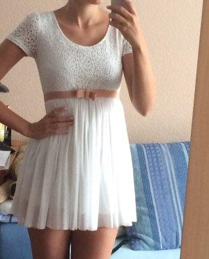 Weißes Vintage Kleid romantic