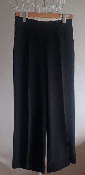 Bernd Berger Pantalón anchos negro tejido mezclado