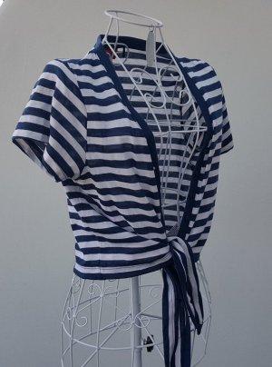 Zabaione Bolero blu scuro-bianco Tessuto misto