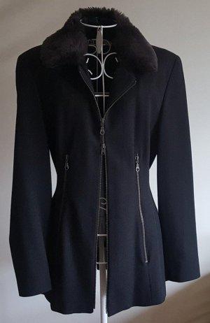 Ambiente Blazer largo negro tejido mezclado
