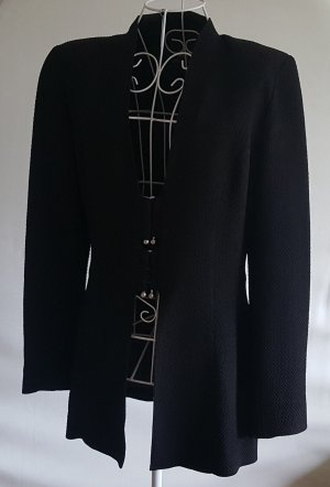 Long Blazer black mixture fibre