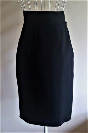 Cartoon Falda de talle alto negro tejido mezclado