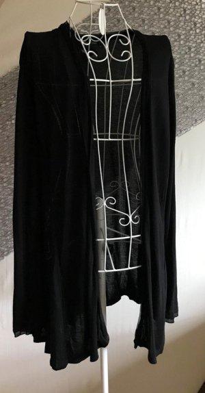 Marc Aurel Chaleco de punto largo negro tejido mezclado