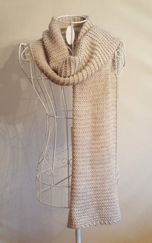 1.2.3 Paris Knitted Scarf sand brown mixture fibre