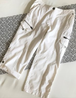 Zabaione 3/4 Length Trousers white cotton
