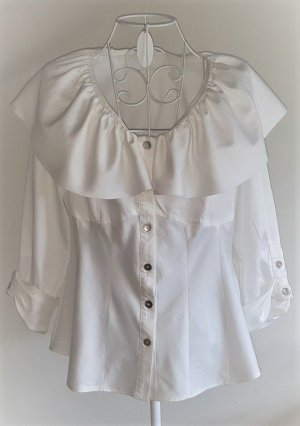 Lisa Campione Carmen Blouse natural white cotton