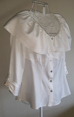 Lisa Campione Carmen Blouse natural white cotton
