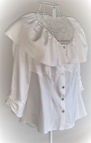 Lisa Campione Carmen blouse wolwit Katoen