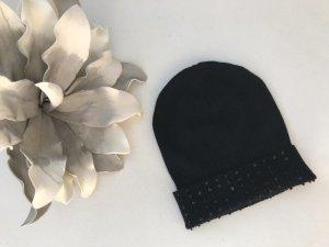 1.2.3 Paris Chapeau en tricot noir tissu mixte