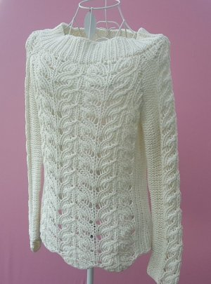 Tom Tailor Knitted Sweater natural white mixture fibre