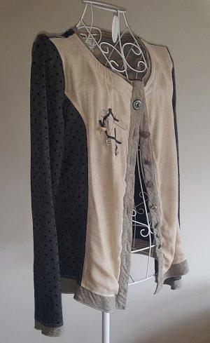 """☸ڿڰۣ- tolles Blusenshirt ...Weste von """"Elisa Cavaletti"""" in Vintage Optik Gr.S -TOP-"""