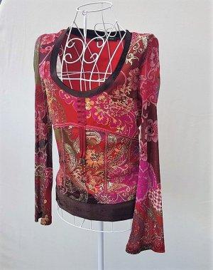 """☸ڿڰۣ- tolles Designer Shirt von """"Eiszeit by Katja Foos"""" Chiffon/Samt Gr. 36 -neuwertig-"""