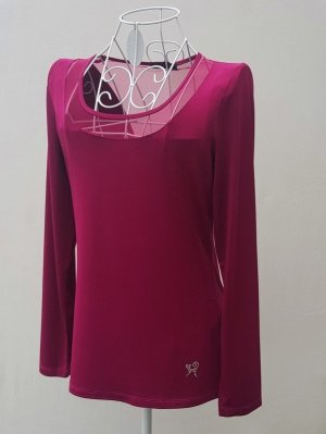 Viccio Barcelona Mesh Shirt raspberry-red mixture fibre