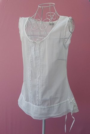 Street One Blouse Top natural white cotton