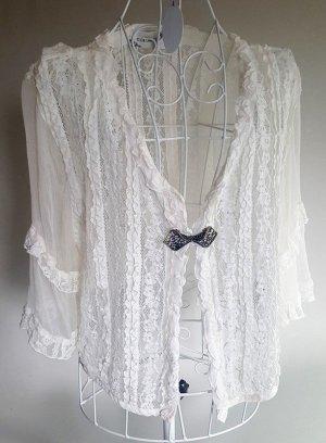 "☸ڿڰۣ-traumhafte Bluse Blusenweste im Barock Syle mit Seide von ""Elisa Cavaletti"" Gr.40/42 ☆☆ NEU ☆☆"