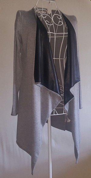 ☸ڿڰۣ -Weste ... Longstrickweste mit Faux Leather Einsatz von Zara Gr.S 36/38 -top-